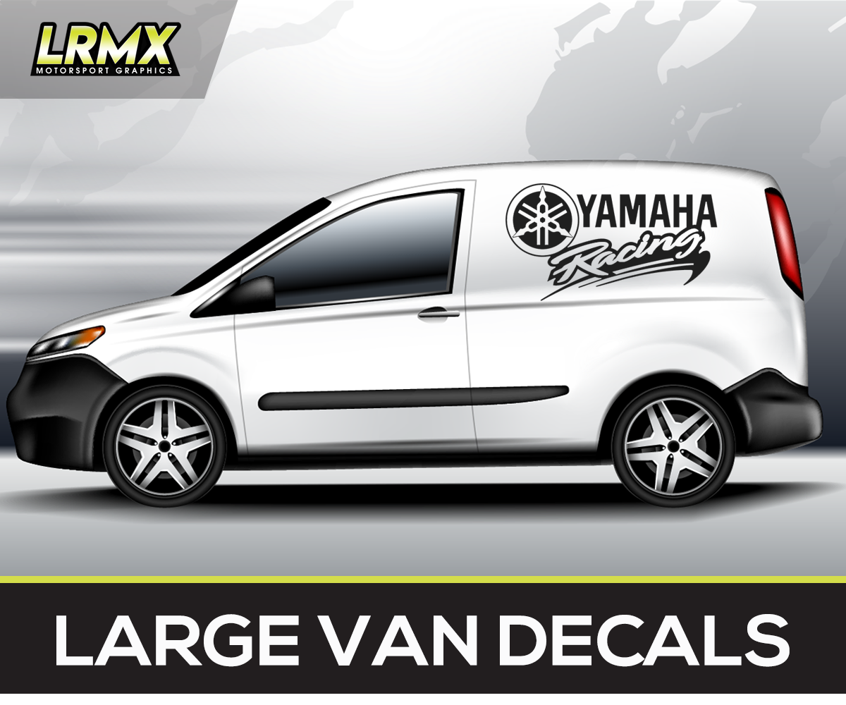 Details about yamaha racing motocross superbike large vehicle van car decals stickers graphics