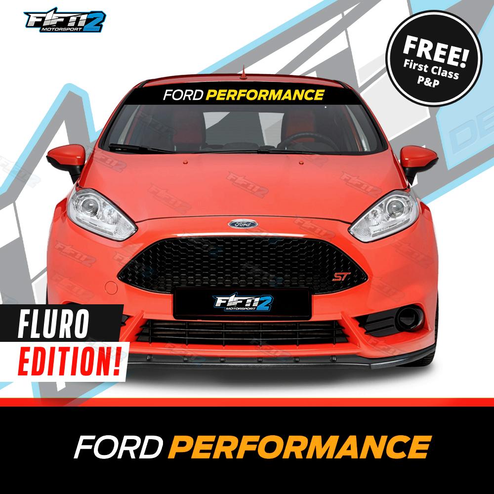 Ford Performance Universal Sunstrip Kit Fiesta ST Focus Mondeo RS Window Banner