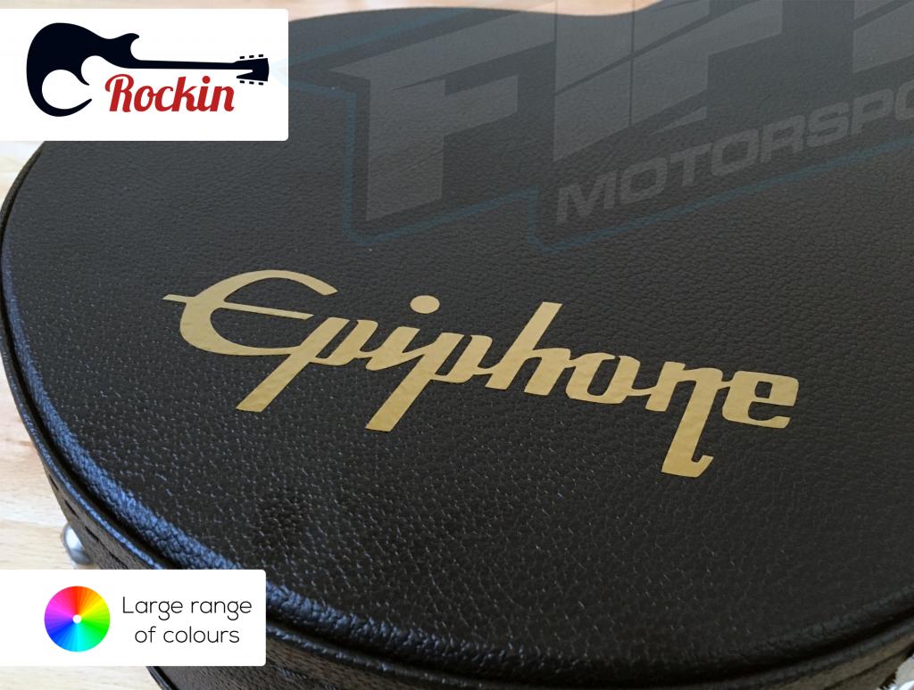 2 x Epiphone Guitar Headstock Compatible Vinyl Decal Sticker Various Colours